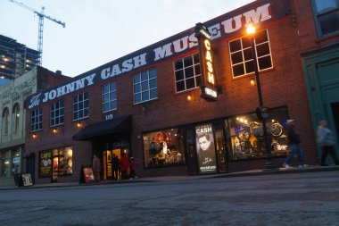 Johnny Cash museum building in downtown Nashville, TN