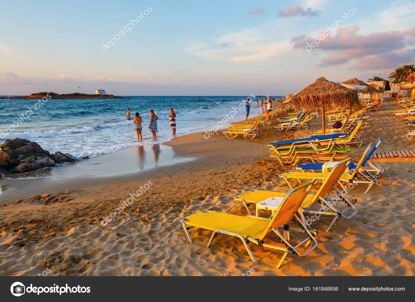 Malia Crete Island Greece June 12 2017 View Of