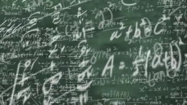 a blackboard full of mathematical formulas. educational concept background