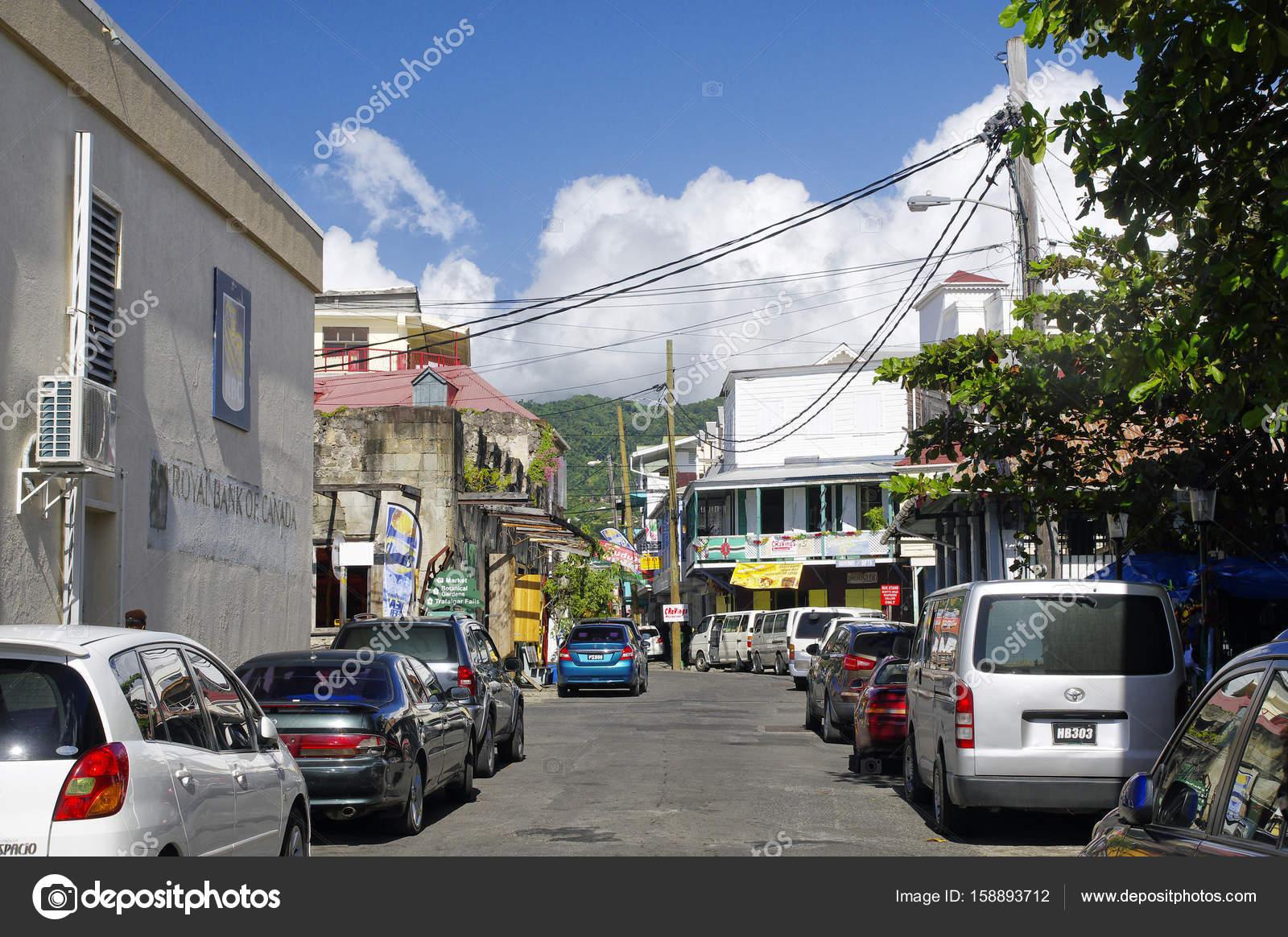 roseau dominica january 5 2017 people visit the old roseau