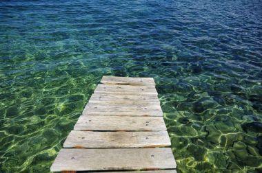 The small prier near  surrounding of Porat village. The island of Krk, Croatia