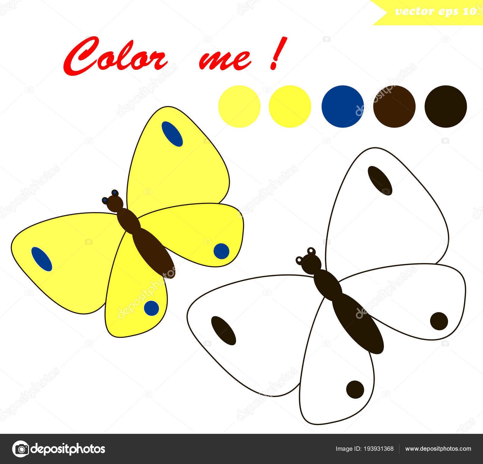 Imágenes Mariposas Infantiles Página Para Colorear De Mariposa