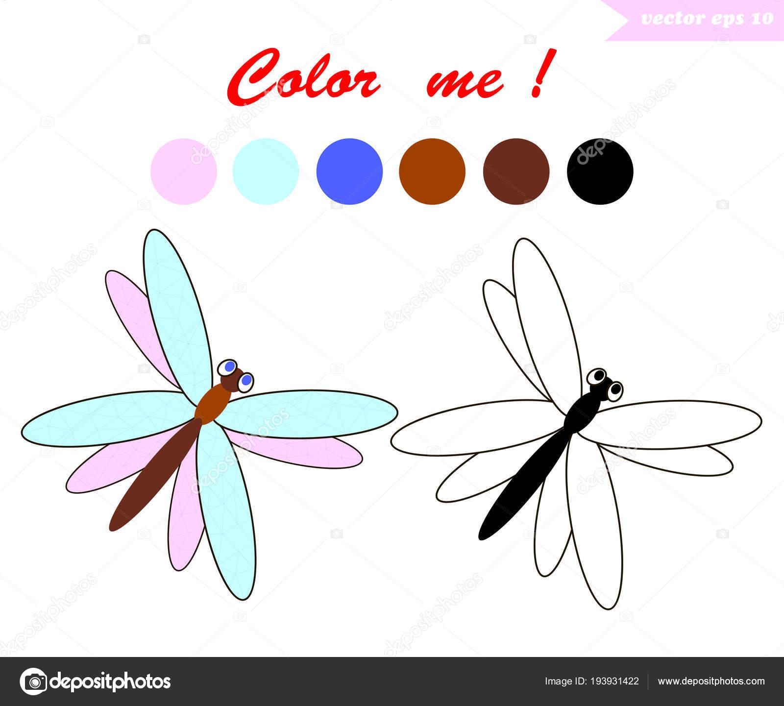 dragnfly para colorear libro — Vector de stock © alexatravel2010 ...