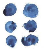 Fotografie Aquarell Malerei von blauen Spritzern nahtlose Muster Hintergrund