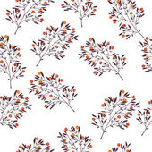 vector illustration design of beautiful branches seamless pattern background