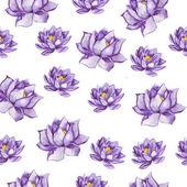 wunderschöne Aquarell lila Lotus Blumen Musterdesign Hintergrund