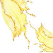 Fotografie Aquarell von gelben Wasser Spritzen Muster Hintergrund