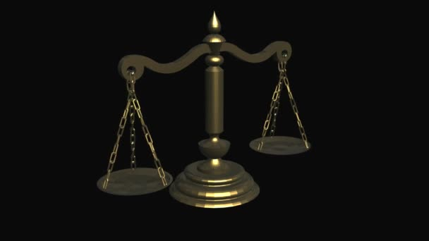 A motion graphic of Balancing Scale or in some instances referred to as a Scale Of Justice