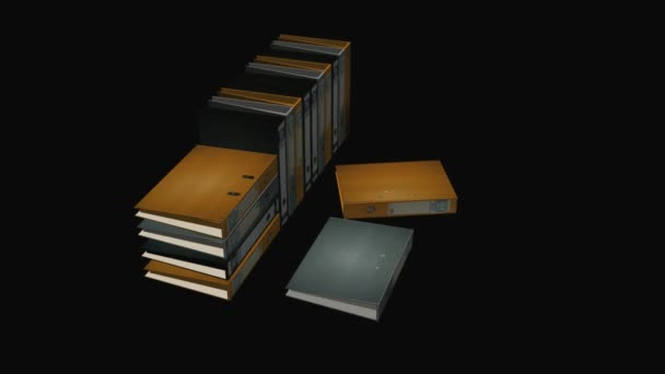 Files Book Binders Motion Background
