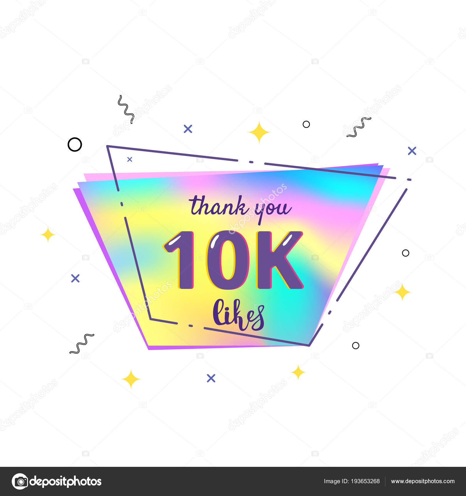 10k likes thank you vector illustration stock vector syuzannam