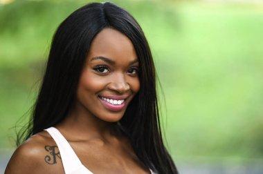 Beautiful elegant African American woman