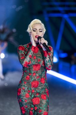 Lady Gaga performs during the Victoria's Secret Fashion Show