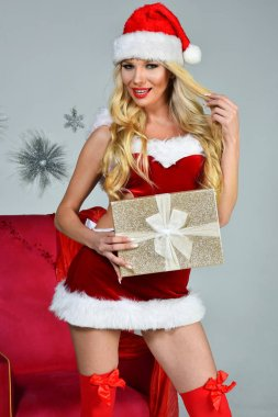 Sexy young Santa-girl