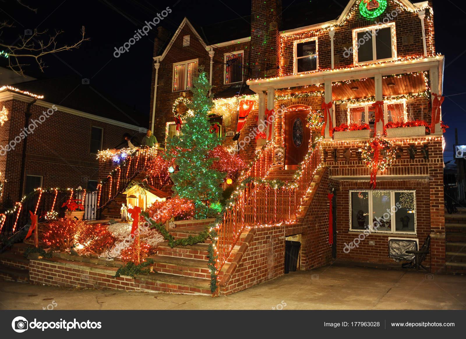 Fotos Casas Decoradas Navidad.Casas Decoradas De Navidad En Brooklyn Luces Navidad