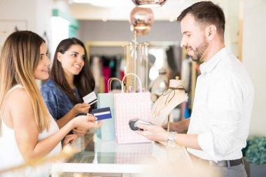 Pretty women shopping
