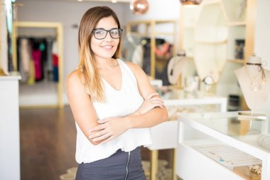 Business owner in shop