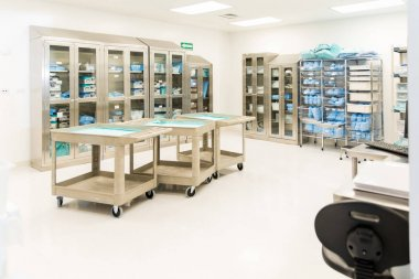 storage room with medical instruments
