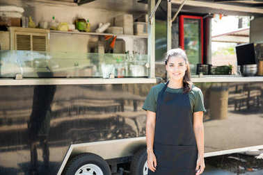 Beautiful food truck owner