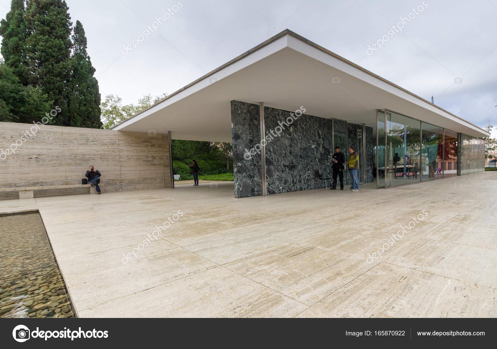 Mies Van Der Rohe Barcelona Pavilion Redaktionelles Stockfoto
