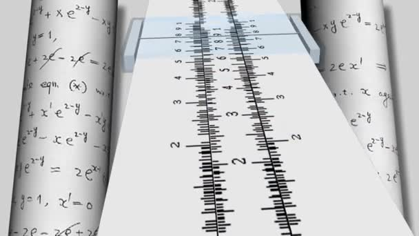 Animated Slide Rule Motion Background Stock Video
