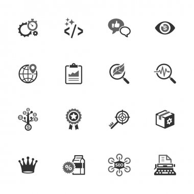 SEO & Internet Marketing Icons Set 4 - Black Series