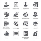 Osobní  obchodní Finance ikony Set 1 - série Sympa
