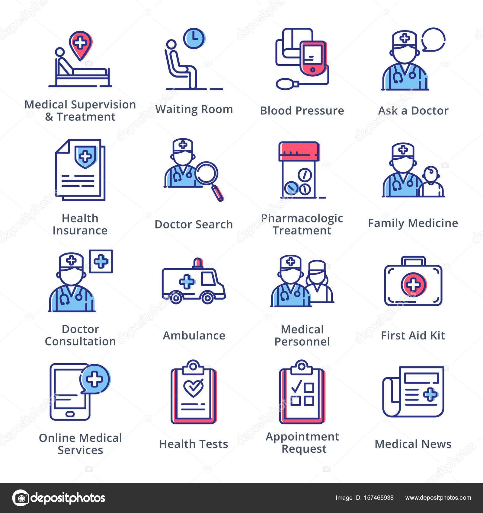 Medizinische & Gesundheitsversorgung Icons Set 2 - Übersicht Serie ...