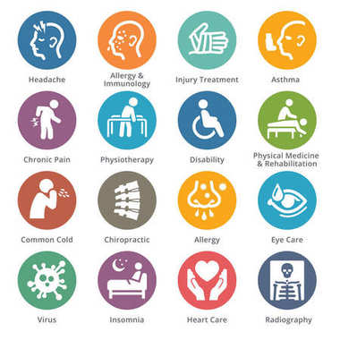 Health Conditions & Diseases Icons - Dot Series