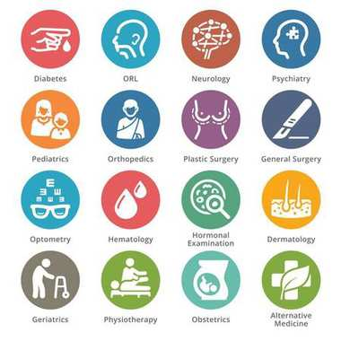 Medical Specialties Icons Set 2 - Dot Series