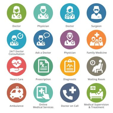 Medical Services Icons Set 3 - Dot Series