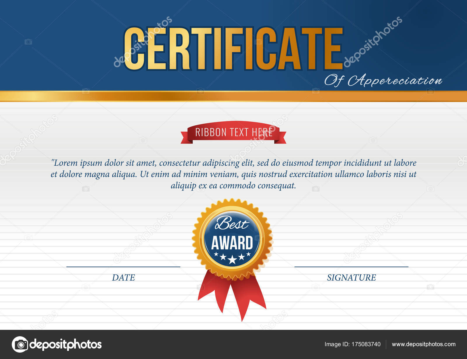 certificate design template vector illustration vector by dynamic