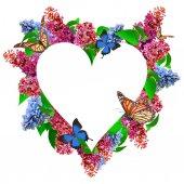 Csodálatos tavaszi lila virág képeslapot