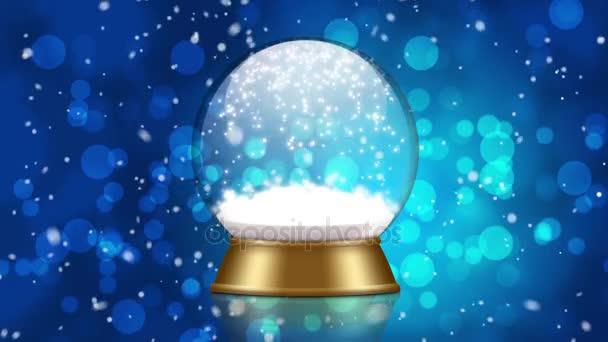 animace sněhové koule