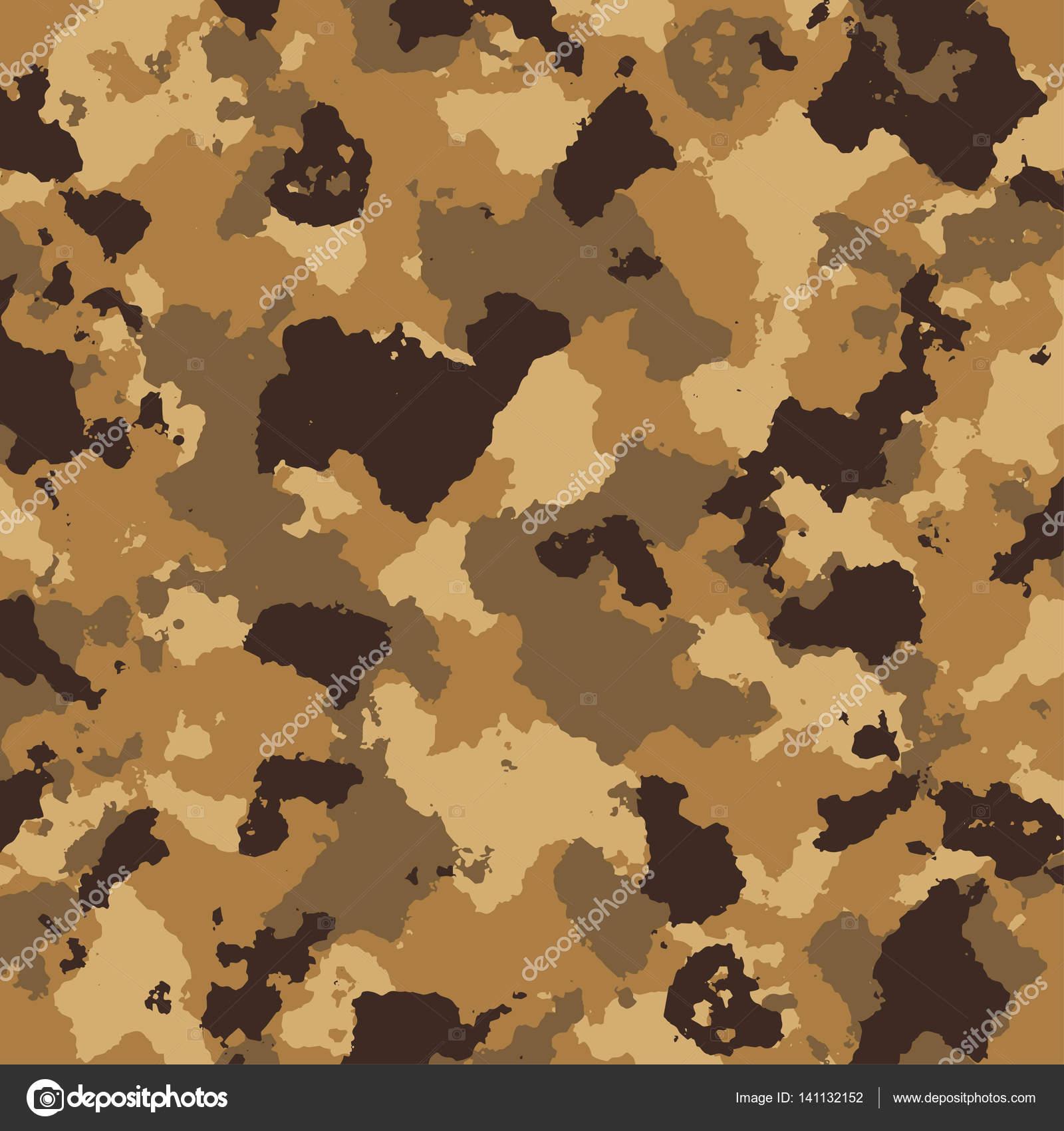 Dessin de camouflage militaire de vecteur en couleurs bruns