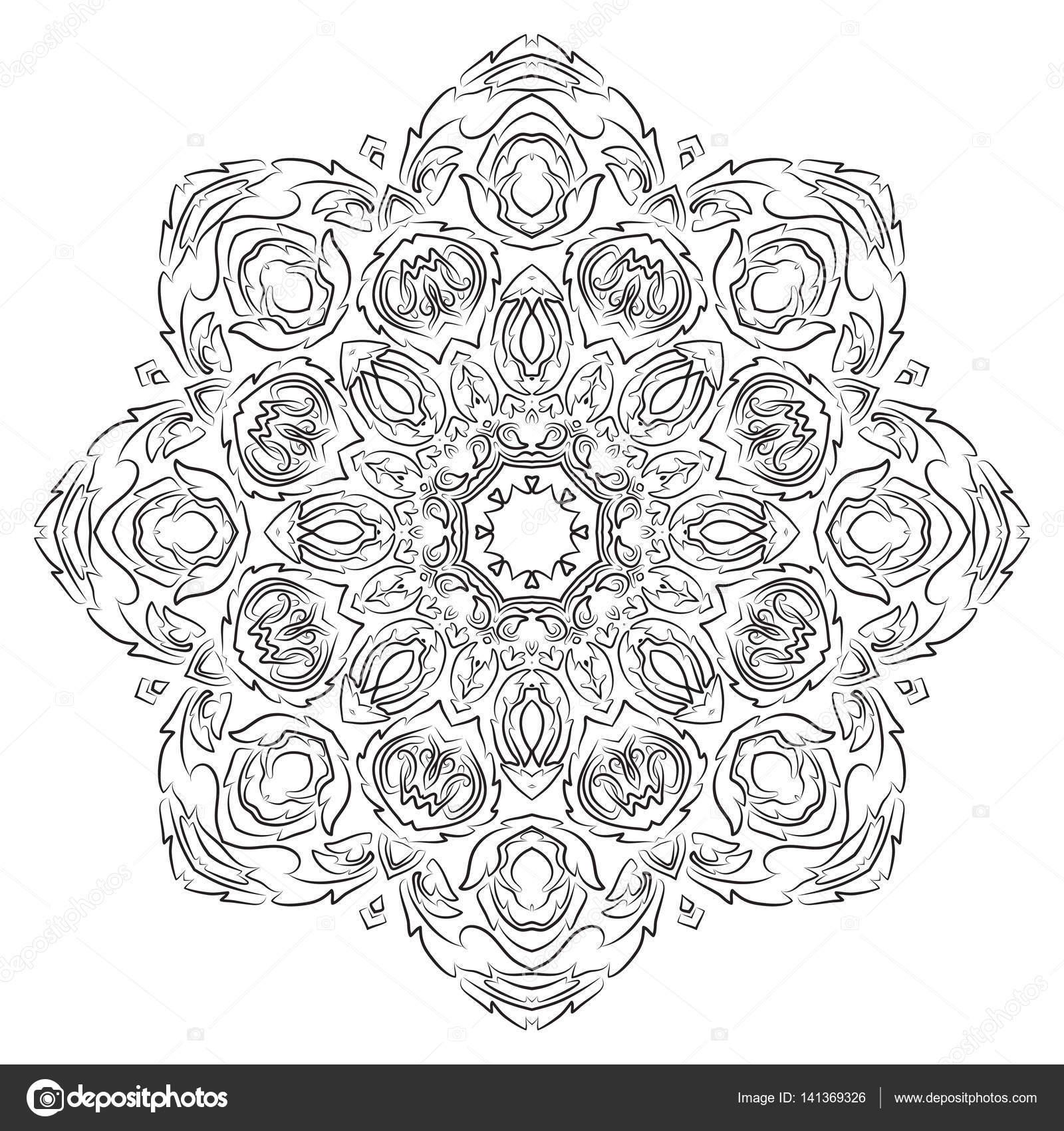 Mandala, Vintage dekoratives element — Stockvektor © merrydolla ...