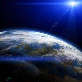 Krásná země ve vesmíru