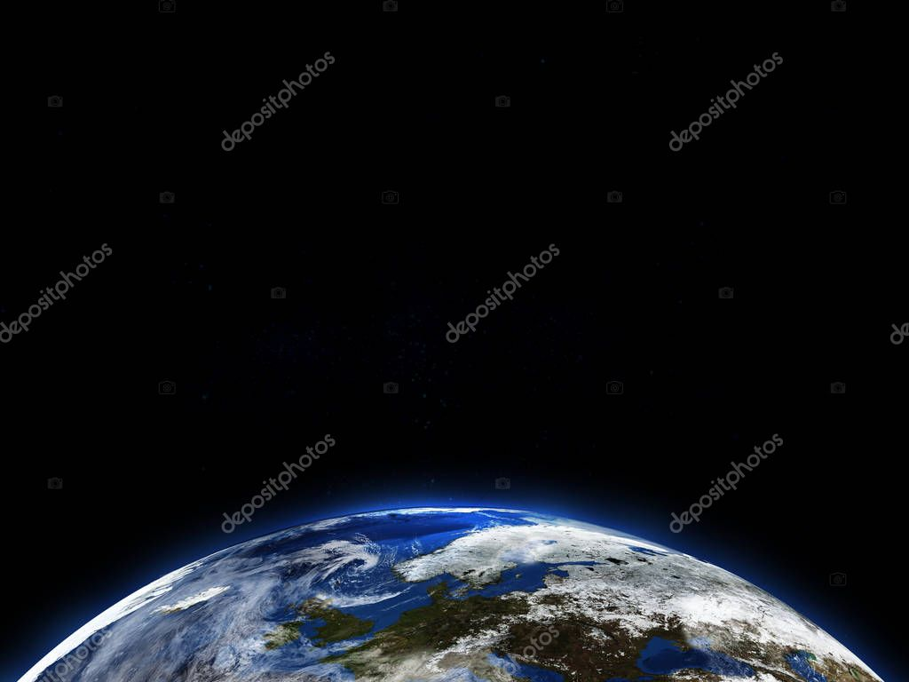 Beautiful earth in space