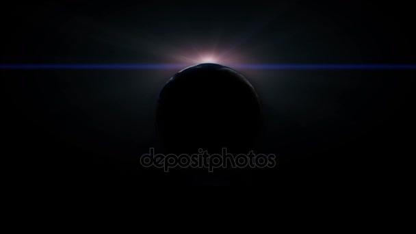 země v prostoru s slunce