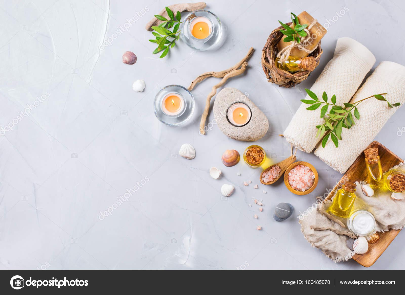 Wellness background  Spa-Wellness-Einstellung-Konzept, Hintergrund mit ätherischen Öl ...