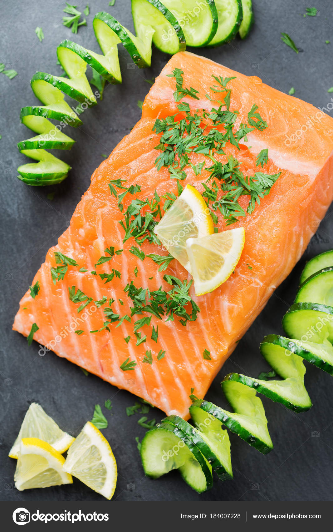 Raw Salmon Fillet For Cooking Japanese Food Stock Photo C Aamulya