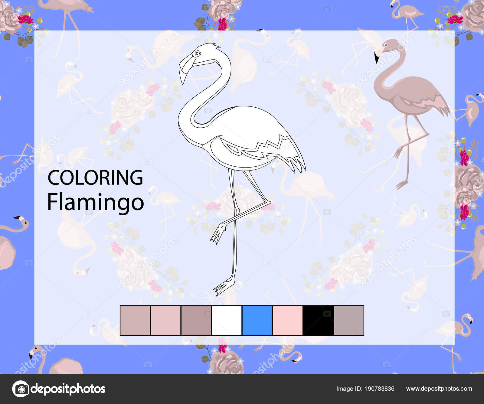 Malvorlagen Flamingo Illustration Vorschule Kindergarten ...