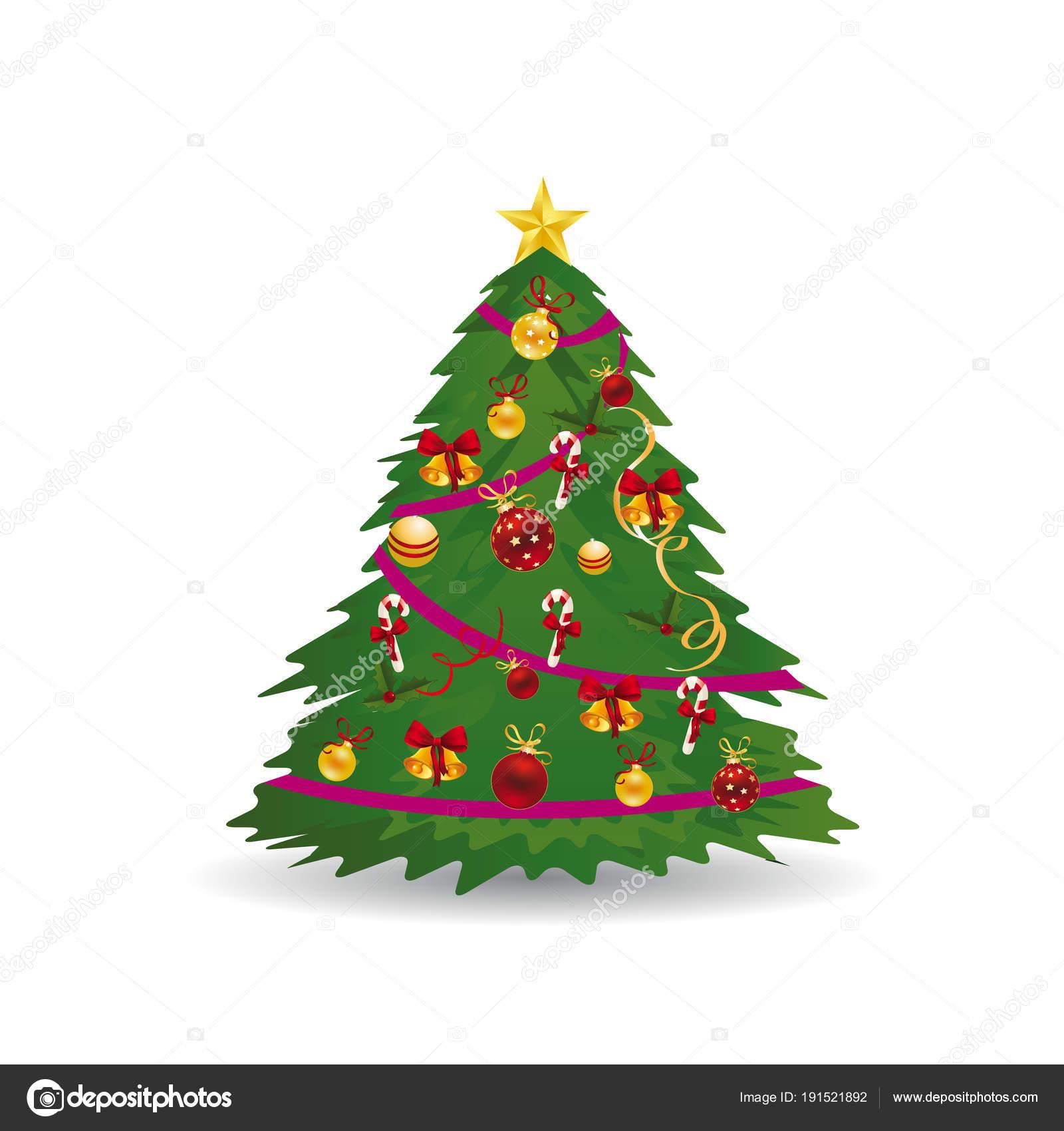 Dibujos Arboles De Navidad Decorados árbol De Navidad Con