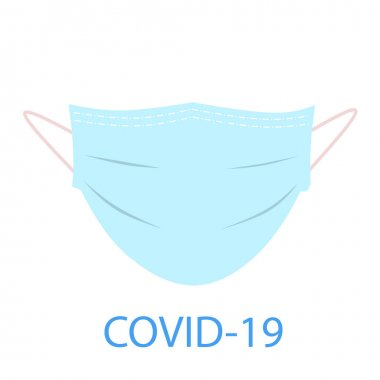 Surgical mask concept icon, protection Covid 19 coronavirus, vector on a white background stock vector