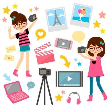 girls making videos
