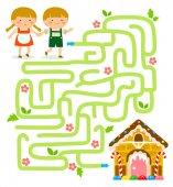 Fotografie Hänsel und Gretel-Labyrinth-Spiel