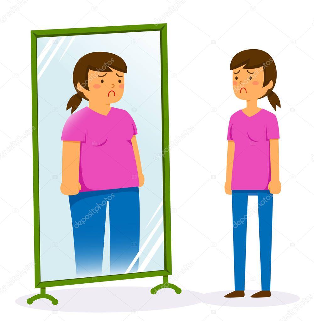 Imágenes: baja autoestima animadas | Infeliz Mujer Mirando ...