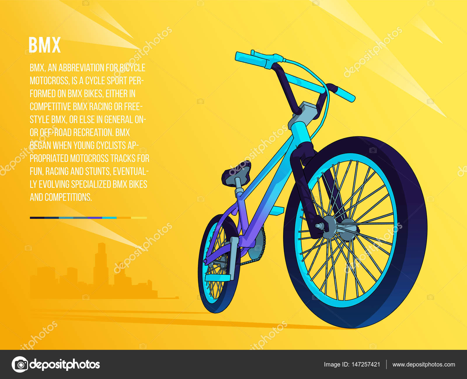 Freestyle bike bmx on city background two wheeled arbon bicycle freestyle bike bmx on city background two wheeled arbon bicycle line vector illustration voltagebd Image collections