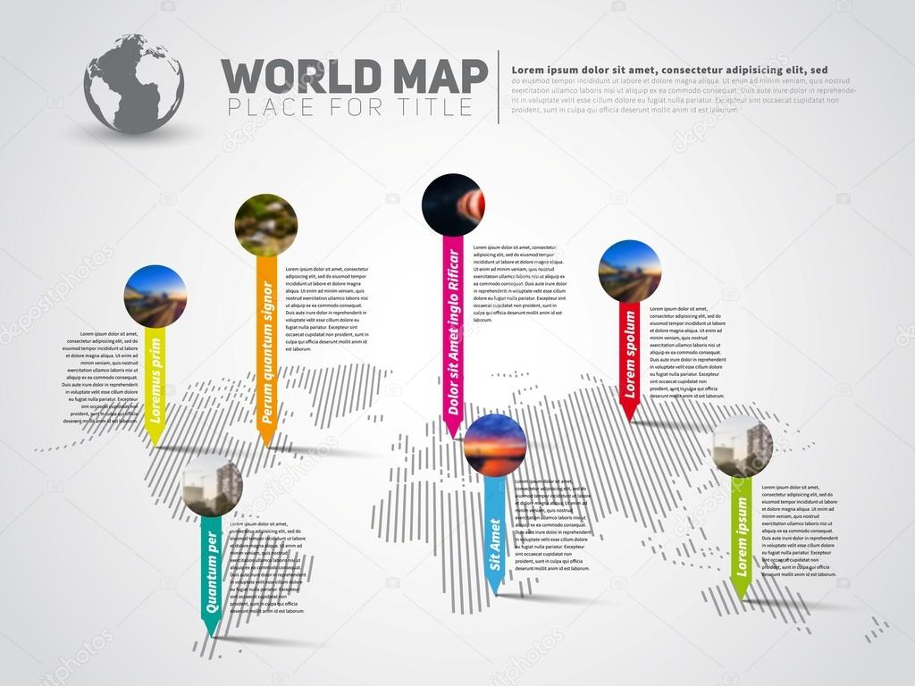World map infographic template stock vector matju78 126686306 world map infographic template stock vector gumiabroncs Image collections