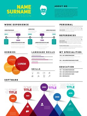 Resume, job cv template