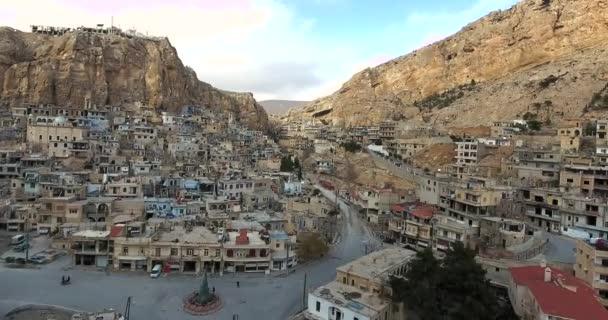 Village Maaloula Mountains Syria 2017 Stock Video C Smallcreative